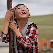 Happiness of a mongolian child