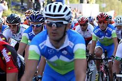 Borut Bozic (L) during the Men's Elite Road Race at the UCI Road World Championships on September 25, 2011 in Copenhagen, Denmark. (Photo by Marjan Kelner / Sportida Photo Agency)