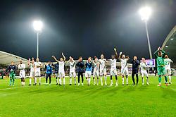 Players of NK Olimpija Ljubljana celebrates after football match between NK Maribor and NK Olimpija Ljubljana in 14th Round of Prva liga Telekom Slovenije 2018/19, on October 27, 2018 in Ljudski vrt , Maribor, Slovenia. Photo by Mario Horvat / Sportida