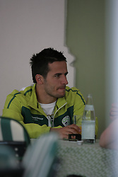 28/05/2010 FIFA World Cup 2010 Football Coupe du monde, Training Camp Slovenia - Brunico, Bruneck, Italy.  .© Photo Pierre Teyssot / Sportida.com. on 28/05/2010, 2010 in Brunico, Bruneck, Italy.