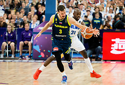 Jamar Wilson of Finland vs Goran Dragic of Slovenia during basketball match between National Teams of Finland and Slovenia at Day 3 of the FIBA EuroBasket 2017 at Hartwall Arena in Helsinki, Finland on September 2, 2017. Photo by Vid Ponikvar / Sportida