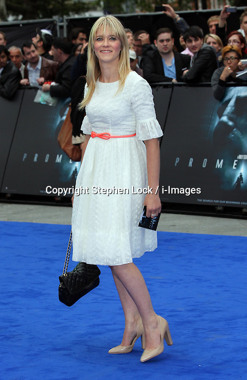 Edith Bowman   arriving for the premiere of  Prometheus, in London on Thursday, 31st May 2012.  Photo by: Stephen Lock / i-Images