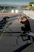 Plovdiv, Bulgaria, 12th May 2019, FISA, Rowing World Cup 1, USRowing Women's Sweep Chief Coach, Tom TERHAAR,