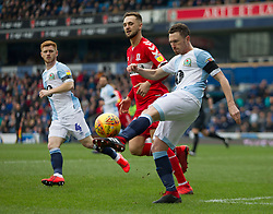 Corry Evans of Blackburn Rovers in action - Mandatory by-line: Jack Phillips/JMP - 17/02/2019 - FOOTBALL - Ewood Park - Blackburn, England - Blackburn Rovers v Middlesbrough - English Football League Championship