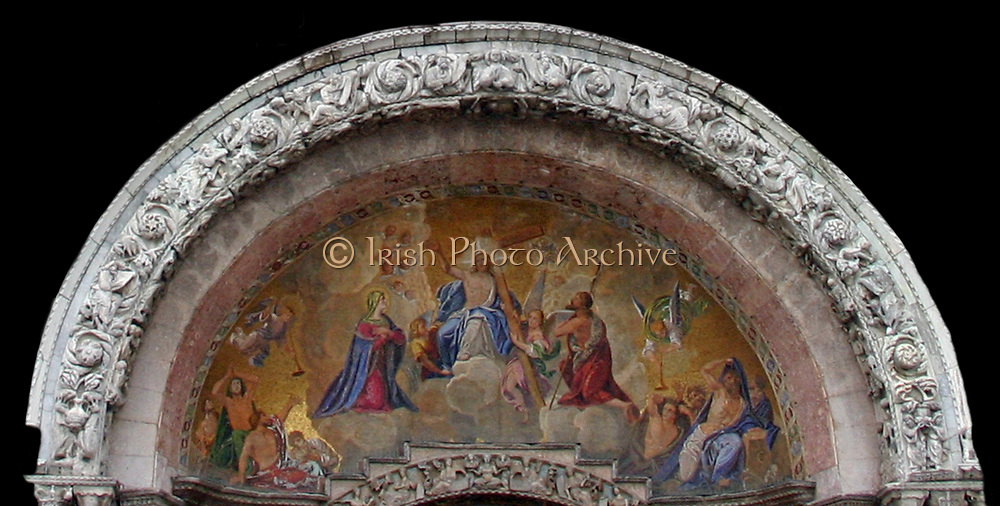 Cathedral Basilica of Saint Mark is the cathedral church of the Roman Catholic Archdiocese of Venice, northern Italy. It is the most famous of the city's churches and one of the best known examples of Byzantine architecture.