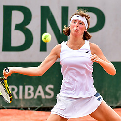 Manon Leonard of France (Girls' Tournament) during Day 8 of the French Open 2018 on June 3, 2018 in Paris, France. (Photo by Dave Winter/Icon Sport)
