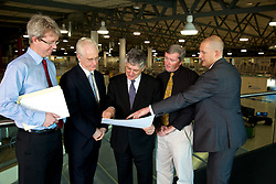 Senior Management Group, SMG, Australian Synchrotron..L-R Michael Tonroe, CFO; Professor Keith Nugent, Facility Director, Australian Synchrotron.; Dr George Borg; Dr Dean Morris, Head of Operations; Andrew Peele, Head of Science. August 2011.