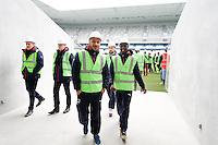 Julien Faubert / Andre Poko - 23.03.2015 - Visite du Stade de Bordeaux -<br /> Photo : Caroline Blumberg / Icon Sport *** Local Caption ***