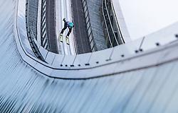01.01.2018, Olympiaschanze, Garmisch Partenkirchen, GER, FIS Weltcup Ski Sprung, Vierschanzentournee, Garmisch Partenkirchen, Probesprung, im Bild Michael Hayboeck (AUT) // Michael Hayboeck of Austria during his Trial Jump for the Four Hills Tournament of FIS Ski Jumping World Cup at the Olympiaschanze in Garmisch Partenkirchen, Germany on 2018/01/01. EXPA Pictures © 2018, PhotoCredit: EXPA/ JFK