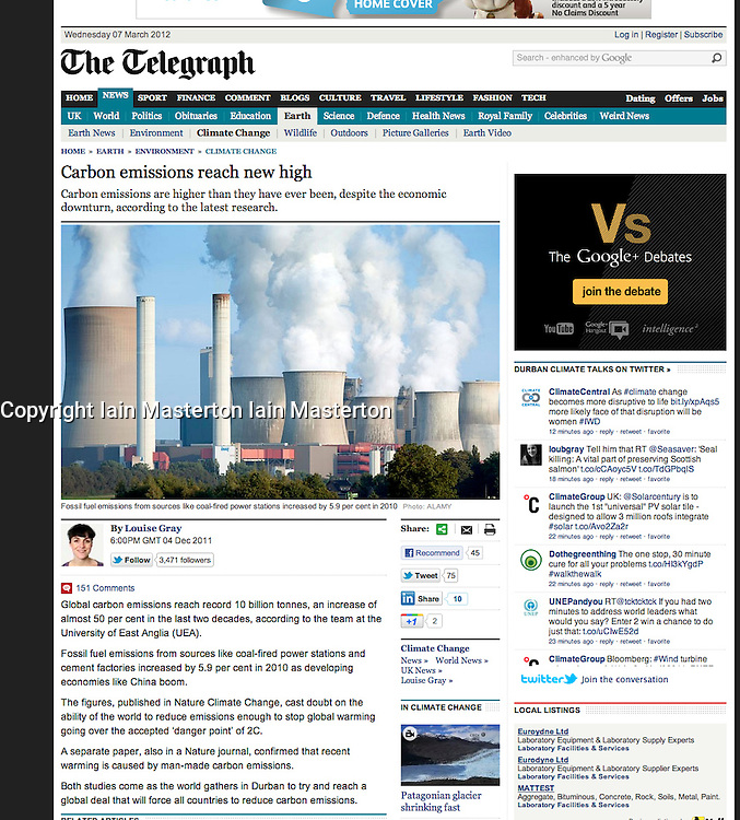 The Telegraph; Coal fired power station