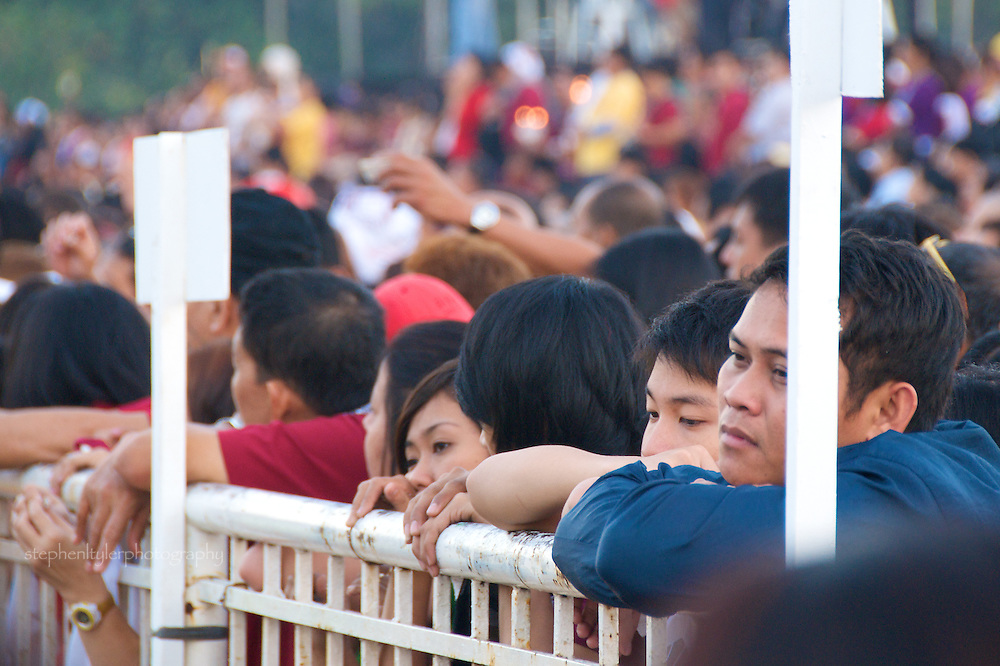 The 403rd celebration of the Black Nazarene, an annual Filipino  event where the image of a Black Jesus is carried through the streets of Quiapo, and believers, following a Mass, attempt to touch the carriage as it passes in a procession to receive blessings and promises of good health.