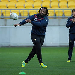 France's Mathieu Bastareaud. France Captain's Run at Westpac Stadium in Wellington, New Zealand on Friday, 15 June 2018. Photo: Dave Lintott / lintottphoto.co.nz