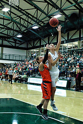 BLOOMINGTON, IL - December 15: Nina Anderson during a college women's basketball game between the IWU Titans  and the Carroll Pioneers on December 15 2018 at Shirk Center in Bloomington, IL. (Photo by Alan Look)