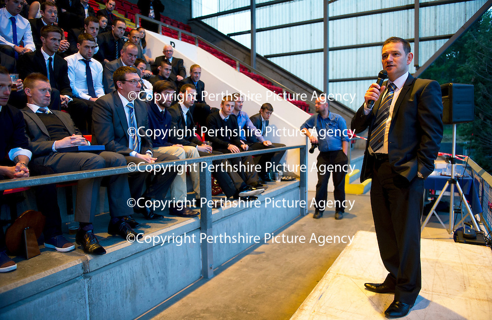 St Johnstone Player of the Year Awards.....06.05.12<br /> Chairman Steve Brown talks<br /> Picture by Graeme Hart.<br /> Copyright Perthshire Picture Agency<br /> Tel: 01738 623350  Mobile: 07990 594431