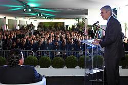 O presdiente da Braskem, Bernardo Gradin (c) e o presidente Luis Inácio Lula da Silva durante a inauguração da planta de eteno verde da Braskem, no pólo petroquimico, em Triunfo, no RS. FOTO: Jefferson Bernardes/Preview.com