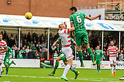 Celtic FC Midfielder Nir Bitton getting a header on target during the Ladbrokes Scottish Premiership match between Hamilton Academical FC and Celtic at New Douglas Park, Hamilton, Scotland on 4 October 2015. Photo by Craig McAllister.