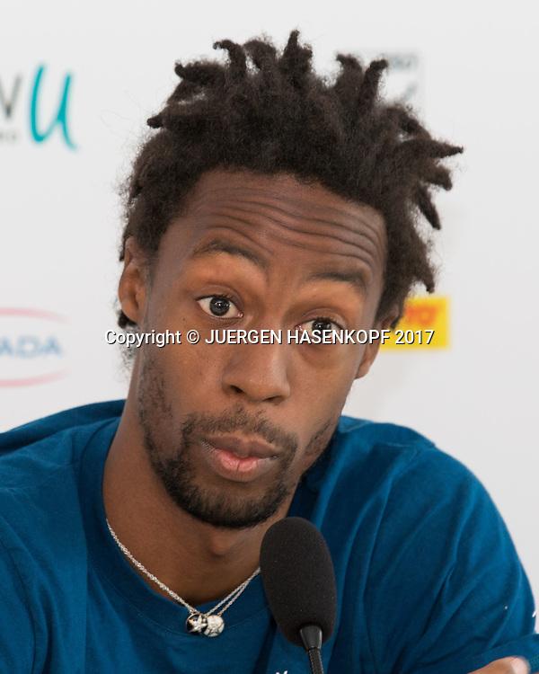 GAEL MONFILS (FRA), Pressekonferenz<br /> <br /> Tennis - BMW Open2017 -  ATP  -  MTTC Iphitos - Munich -  - Germany  - 3 May 2017.