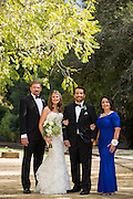 Kristin and Robert Hernandez celebrate their wedding at Roaring Camp Railroads in Felton, California, on September 27, 2014. (Stan Olszewski/SOSKIphoto)