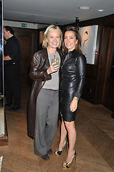 Left to right, MARIELLA FROSTRUP and KAREN RUIMY at the launch of Voice of An Angel - a book by Karen Ruimy held at The Groucho Club, Dean Street, London on 17th October 2012.