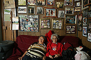 Artist Lucy S. Adams and her friend Barbara Wesley in Kivalina, Alaska. 2009