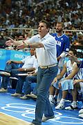 ATENE, 26 AGOSTO 2004<br /> BASKET, OLIMPIADI ATENE 2004<br /> ITALIA - PORTORICO<br /> NELLA FOTO: CARLO RECALCATI<br /> FOTO CIAMILLO