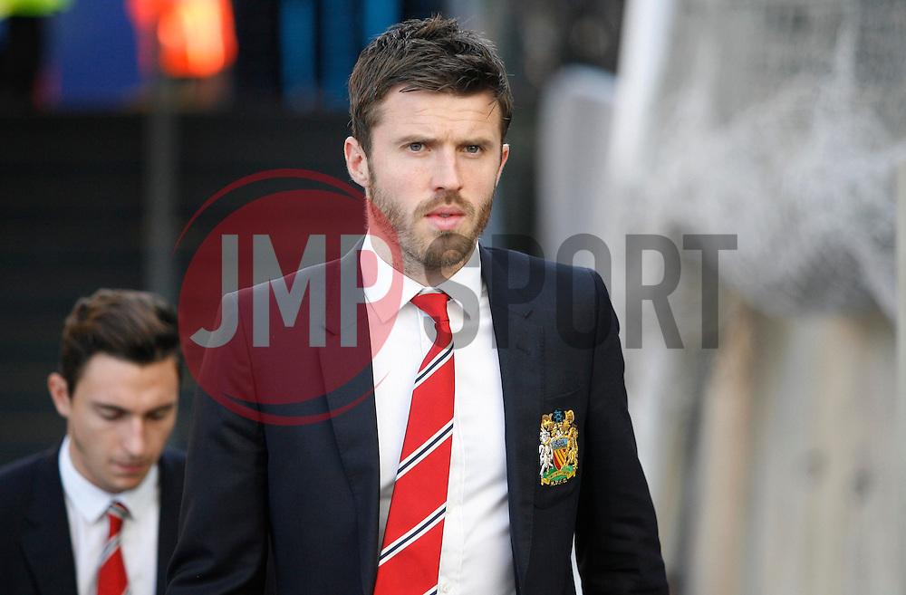 Michael Carrick of Manchester United before the match  - Mandatory byline: Jack Phillips/JMP - 07966386802 - 31/10/2015 - SPORT - FOOTBALL - London - Selhurst Park Stadium - Crystal Palace v Manchester United - Barclays Premier League