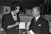22/04/1963<br /> 04/22/1963<br /> 22 April 1963<br /> Miss Christine Baldwin, (left) Christian Dior Beauty Consultant at Brown Thomas.