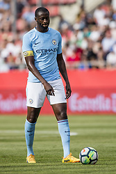 August 15, 2017 - Girona, Spain - 42 Toure Yaya from Ivory Coast of Manchester City during the Costa Brava Trophy match between Girona FC and Manchester City at Estadi de Montilivi on August 15, 2017 in Girona, Spain. (Credit Image: © Xavier Bonilla/NurPhoto via ZUMA Press)