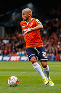 Luke Guttridge  of Luton Town during the Sky Bet League 2 match at Kenilworth Road, Luton<br /> Picture by David Horn/Focus Images Ltd +44 7545 970036<br /> 16/08/2014