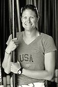 20130411 San Diego Rowing Club, Susan FRANCIA {Coach]Mission Bay, Mission Beach, California. USA