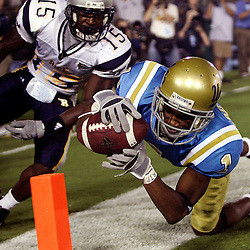 Rice vs UCLA at the Rose Bowl Saturday night September 9. 2006 in Pasadena,Calif., UCLA's Brandon Breazell ,1, scores a TD in the 4th quarter as UCLA beat Rice 26-16.