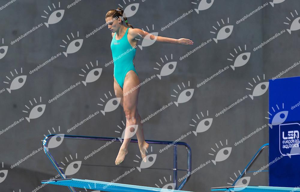 DALLAPE' Francesca ITA<br /> London, Queen Elizabeth II Olympic Park Pool <br /> LEN 2016 European Aquatics Elite Championships <br /> Diving<br /> Women's 3m springboard preliminary <br /> Day 06 14-05-2016<br /> Photo Giorgio Perottino/Deepbluemedia/Insidefoto
