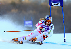 Lindsey Vonn of USA skiing in first run of Maribor women giant slalom race of Audi FIS Ski World Cup 2008-09, in Maribor, Slovenia, on January 10, 2009. (Photo by Vid Ponikvar / Sportida)