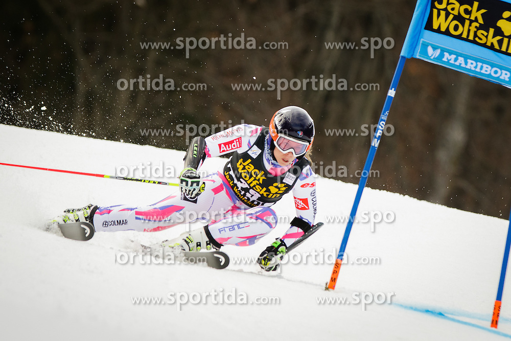 Anne-Sophie Barthet (FRA) during 7th Ladies' Giant slalom at 52nd Golden Fox - Maribor of Audi FIS Ski World Cup 2015/16, on January 30, 2016 in Pohorje, Maribor, Slovenia. Photo by Ziga Zupan / Sportida