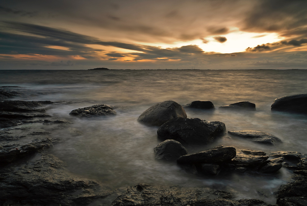 Sunset at Tungenes, Rogaland, Norway.