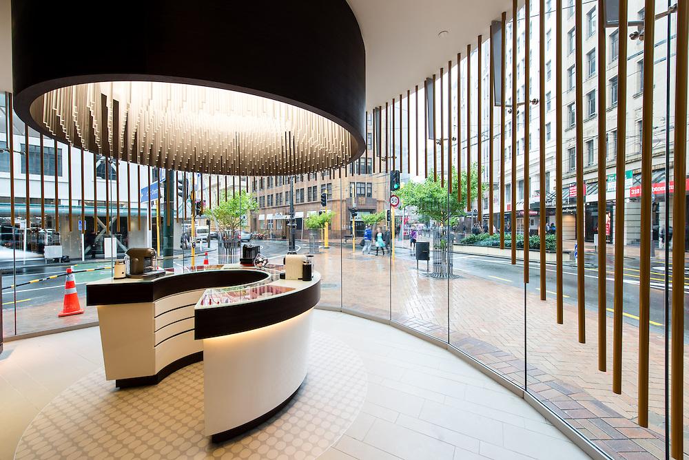 1834 Campbell Nesspresso Boutique architecture: Thursday 7 November 2013.<br /> Photo by Mark Tantrum | www.marktantrum.com