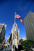Image of North Michigan Avenue along Magnificent Mile in Chicago, Illinois, American Midwest