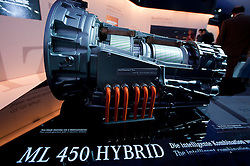 New Mercedes  hybrid electric engine on display at Frankfurt Motor Show 2009