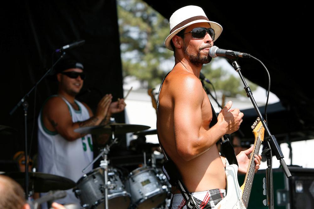 Pepper performs at the Van's Warped Tour stop at the Utah State Fair Park in Salt Lake Cityi, Utah Saturday July 7, 2007.  August Miller/ Deseret Morning News