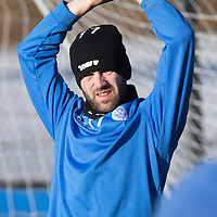 St Johnstone training...30.01.15<br /> James McFadden pictured during training at McDiarmid Park this morning ahead of tomorrow's game against his old club Motherwell<br /> Picture by Graeme Hart.<br /> Copyright Perthshire Picture Agency<br /> Tel: 01738 623350  Mobile: 07990 594431