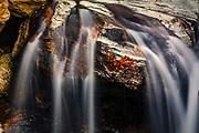 River streams over a white stone