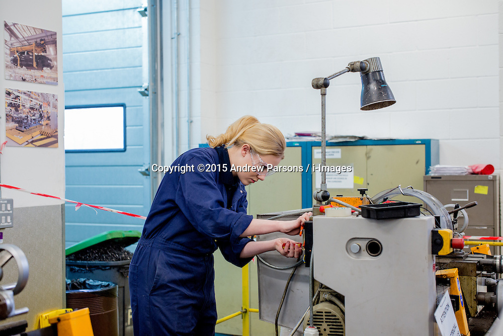 &copy;Licensed to i-Images Picture Agency. 19/03/2015. Crewe, Total People<br /> South Cheshire College, Conservative Campaign. Apprentice  Kate Wakefield &ndash; Apprentice at Astra Zeneca.  Picture by Andrew Parsons / i-Images