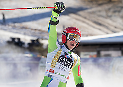 18.12.2016, Grand Risa, La Villa, ITA, FIS Ski Weltcup, Alta Badia, Riesenslalom, Herren, 2. Lauf, im Bild Zan Kranjec (SLO) // Zan Kranjec of Slovenia reacts after his 2nd run of men's Giant Slalom of FIS ski alpine world cup at the Grand Risa race Course in La Villa, Italy on 2016/12/18. EXPA Pictures © 2016, PhotoCredit: EXPA/ Johann Groder