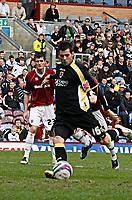 Photo: Paul Greenwood/Richard Lane Photography. <br />Burnley v Cardiff City. Coca-Cola Championship. 26/04/2008. <br />Cardiff City's Joe Ledley scores from the spot