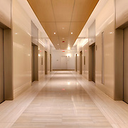 Interior Hallway at 910 Main, Kansas City, MO following renovation of top two floors to apartments