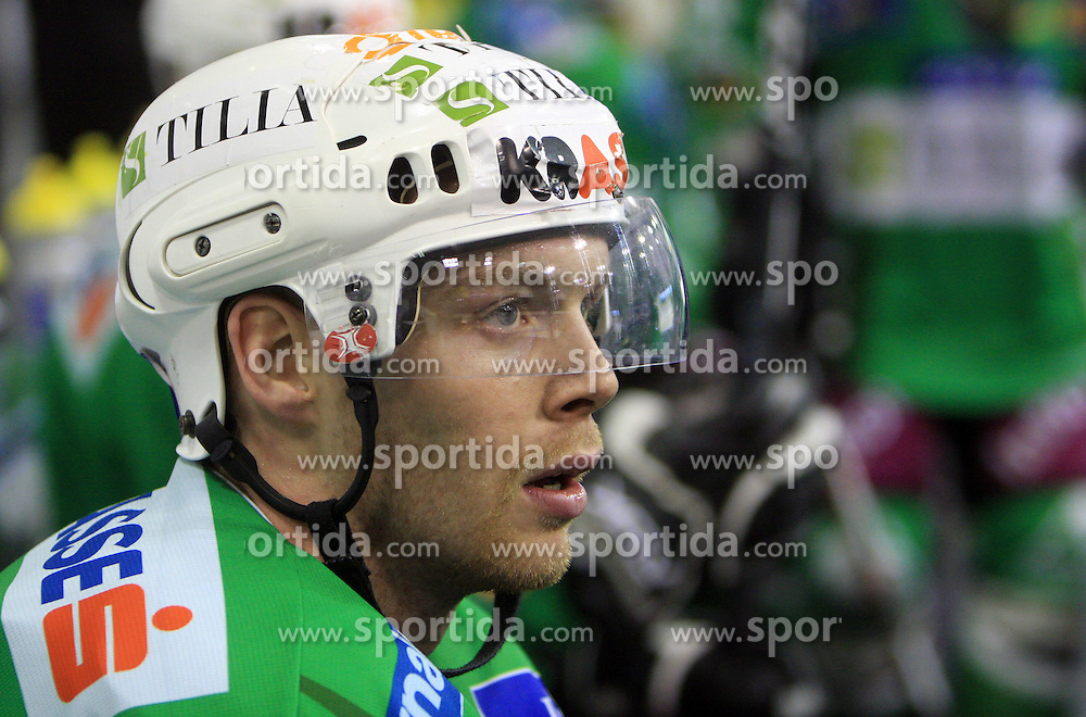 Andrej Tavzelj at 39th Round of EBEL League ice hockey match between HDD Tilia Olimpija and HK Acroni Jesenice, on December 30, 2008, in Arena Tivoli, Ljubljana, Slovenia. Tilia Olimpija won 4:3. (Photo by Vid Ponikvar / SportIda).