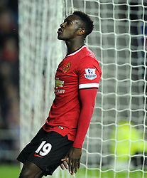 Manchester United's Danny Welbeck screams in frustration - Photo mandatory by-line: Joe Meredith/JMP - Mobile: 07966 386802 26/08/2014 - SPORT - FOOTBALL - Milton Keynes - Stadium MK - Milton Keynes Dons v Manchester United - Capital One Cup