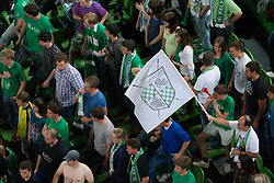 Krka fans during basketball match between KK Union Olimpija and KK Krka in 4nd Final match of Telemach Slovenian Champion League 2011/12, on May 24, 2012 in Arena Stozice, Ljubljana, Slovenia. Krka defeated Union Olimpija 65-55. (Photo by Grega Valancic / Sportida.com)