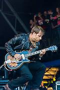 The Black Keys play the Pyramid Stage. The 2014 Glastonbury Festival, Worthy Farm, Glastonbury. 29 June 2013.