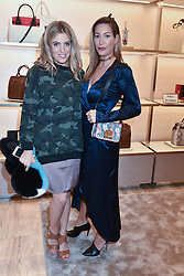 Left to right, Olivia Cox and Laura Pradelska at a party to celebrate the launch of the new Furla Flagship store, 71 Brompton Road, London England. 2 February 2017.